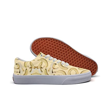 Womens Skateboarding Shoes Canvas Seamless Banana Sport Sneaker