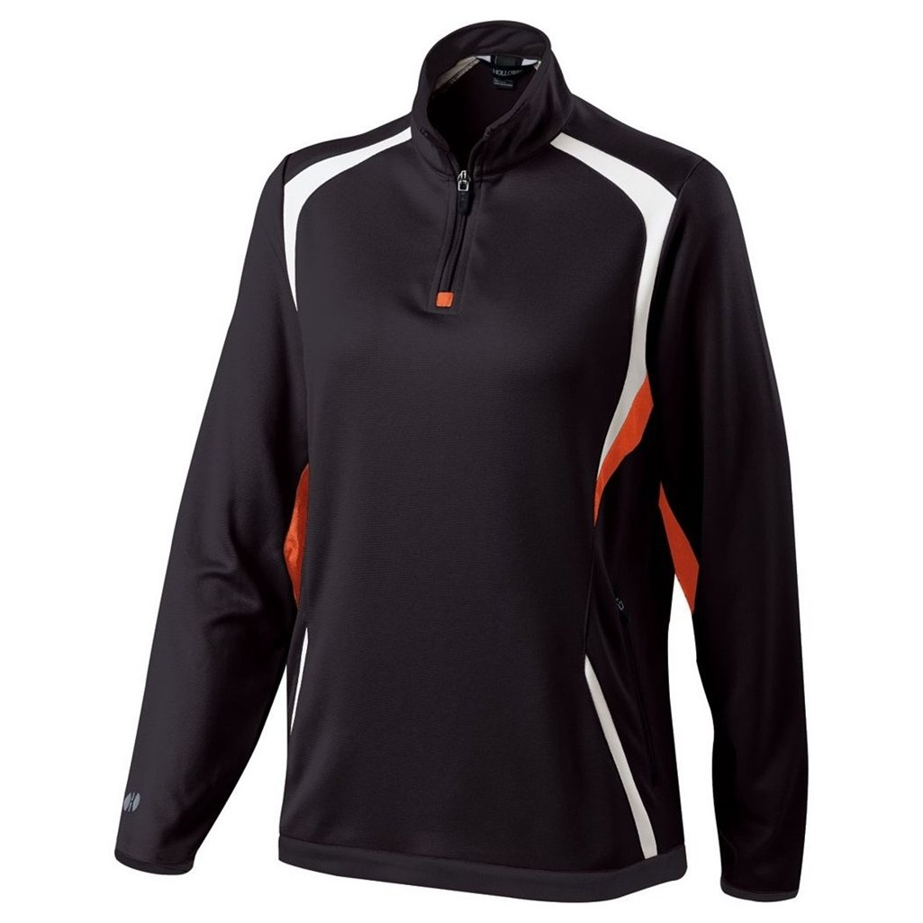 Holloway Ladies Dry Excel Transform Pullover (Small, Black/Orange/White) by Holloway
