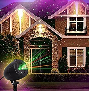 startastic holiday light show action laser light projector as seen on tv new and improved - Laser Light Show Christmas