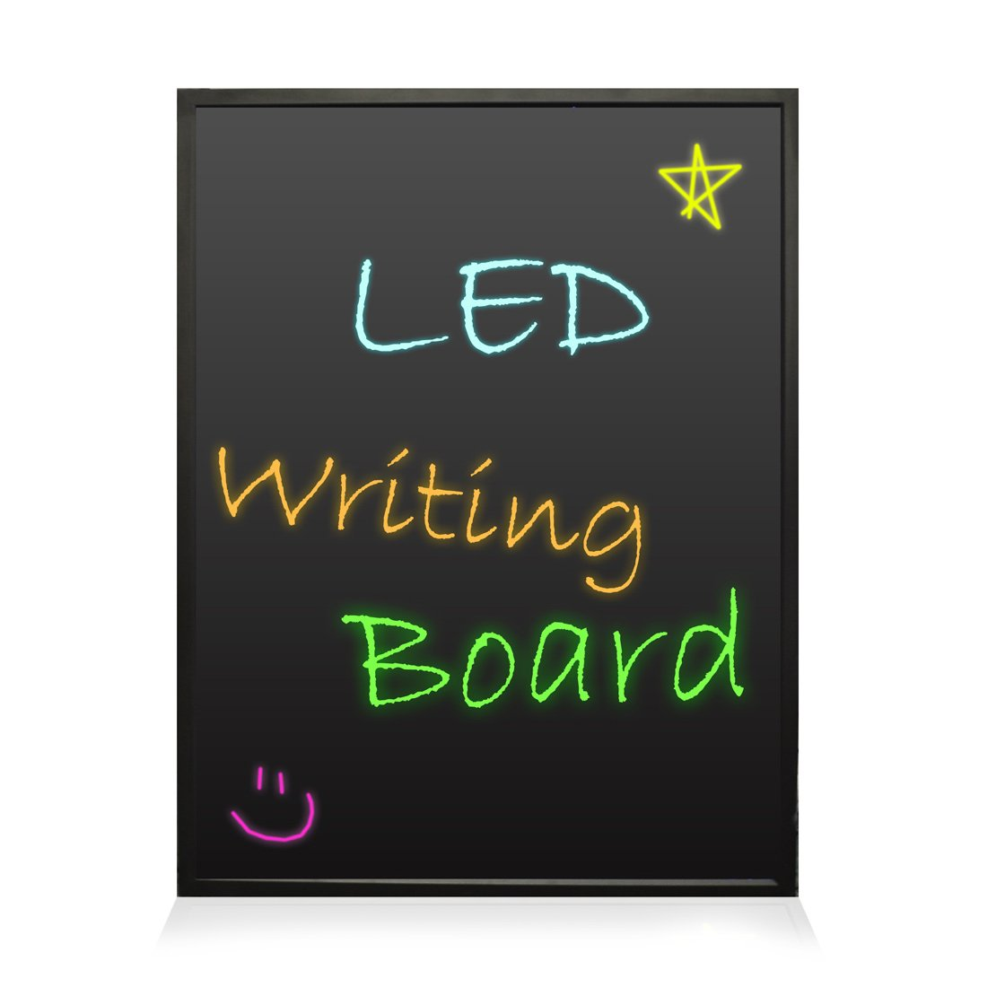 Pyle PLWB3040 - 16''x12'' - Flashing Illuminated Erasable Neon LED Message Writing Board/ Menu Sign with Remote Control and 8 Fluorescent Markers - Connect and Configure Custom settings from PC by Pyle (Image #1)