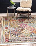 colorful area rugs Unique Loom Baracoa Collection Bright Tones Vintage Traditional Multi Area Rug (4' x 6')