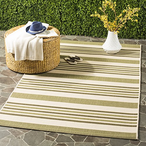Cheap Safavieh Courtyard Collection CYL7062-234A Beige and Green Indoor/ Outdoor Area Rug (5′ x 8′)