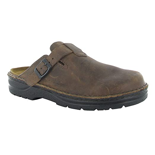 Naot Fiord Scandinavian Men Clogs And Mules Shoes, Crazy Horse Leather,Size  - 43