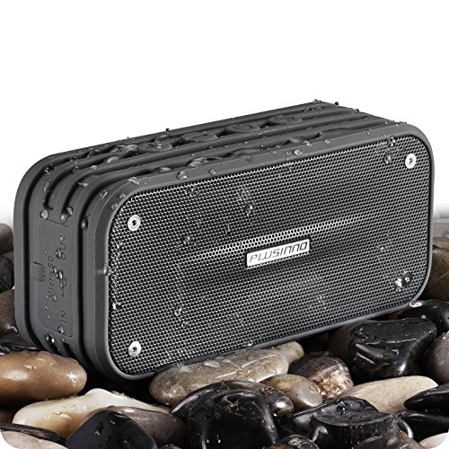 PLUSINNO Portable Bluetooth 4.0 Waterproof Wireless Speaker with Siri, Bluetooth Receiver and Built-in Microphone...