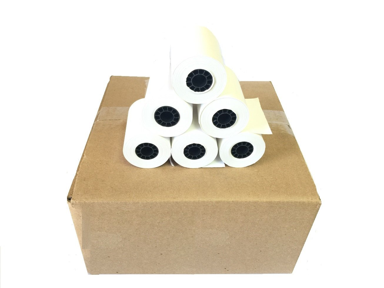 BAM POS, 2-1/4 x 50' 1-Ply Thermal Paper 50 Rolls for the Ingenico ICT 200/220/250 / Verifone VX 520 / Hypercom/Nurit by BAM POS