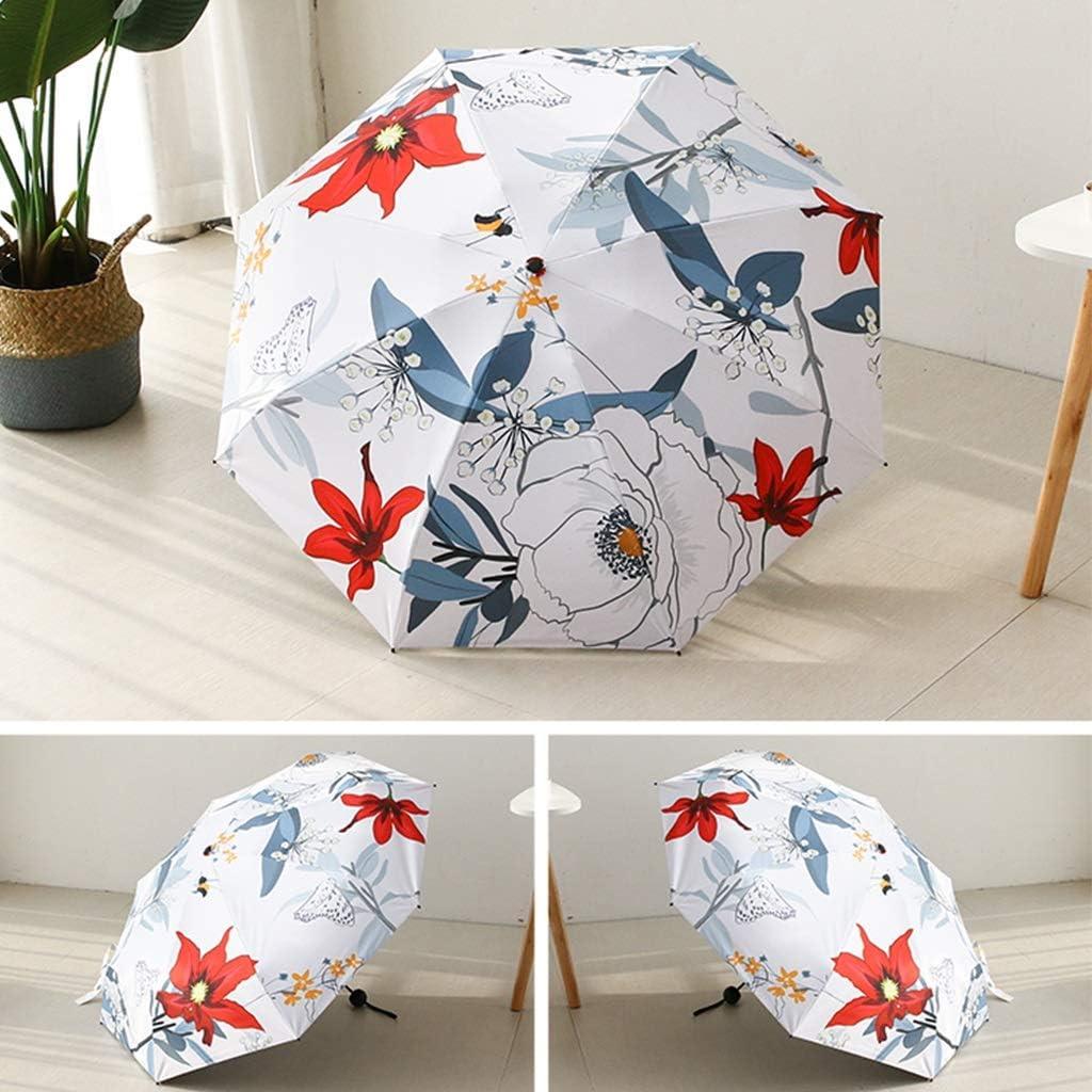 Conemmo Umbrella Female Folding rain Dual-use Ultra Light Small Sun Umbrella Sun Protection UV Black Plastic Umbrella Parasol Windproof Reinforcement
