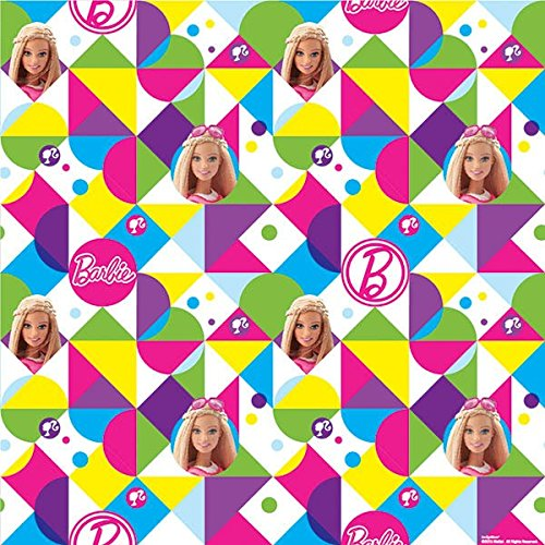 Amscan Printed Gift Wrap | Barbie Sparkle Collection | Party Accessory -