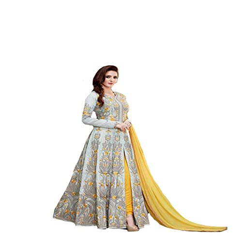 Party Wear indo-western abito indiano pakistano musulmana donne vestito designer anarkali suits 391