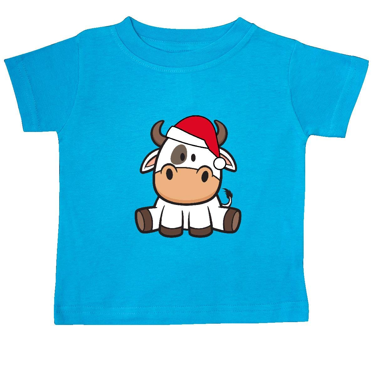 inktastic Christmas Santa Cow Baby T-Shirt