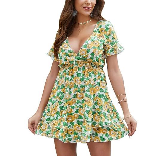 Vestido para Mujer Verano 2019 Impresión Americana Falda Corta con ...