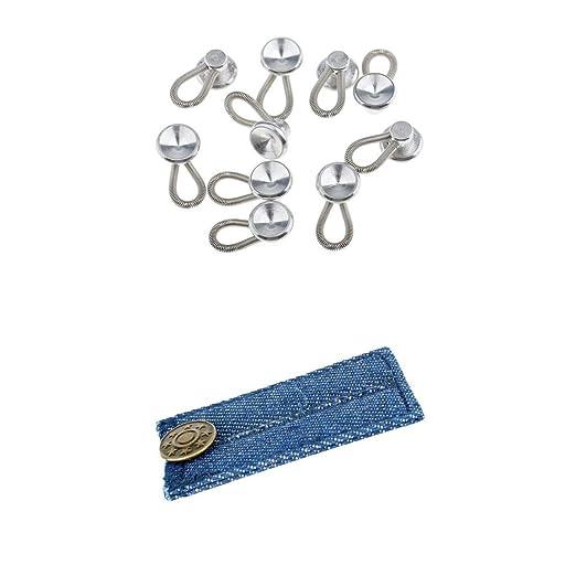 Extensor de Cuello y Pantalones Vaqueros de Metal con Botones, 11 ...
