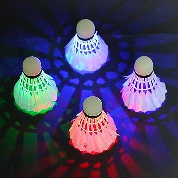 Volante de Bádminton, Rixow Pelota LED de Bádminton para ...