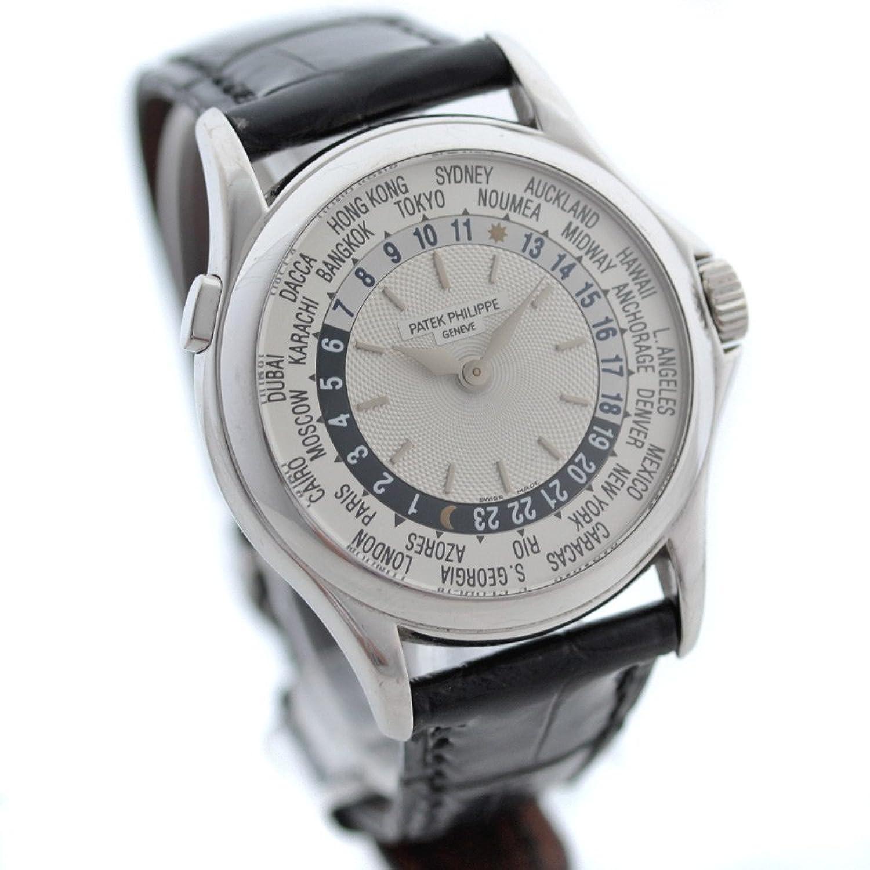 パテックフィリップ PATEK PHILIPPE ワールドタイム 5110G-001 腕時計 ホワイトゴールド シルバー メンズ 自動巻き [中古] B07DRFNF8Z