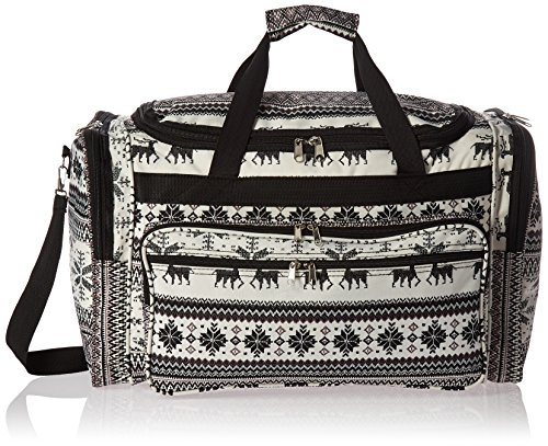 World Traveler Value Series Winter 22-inch Carry-on Duffel Bag-Deer, Black Trim, One Size