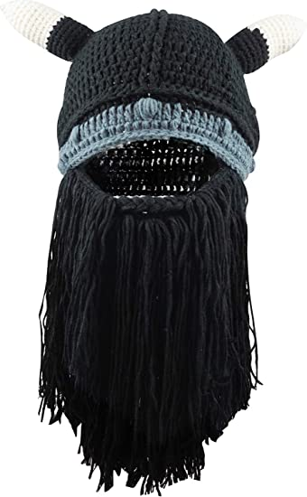 622c27e3fcc Men Knit Viking Beard Mustache Hat Beanie