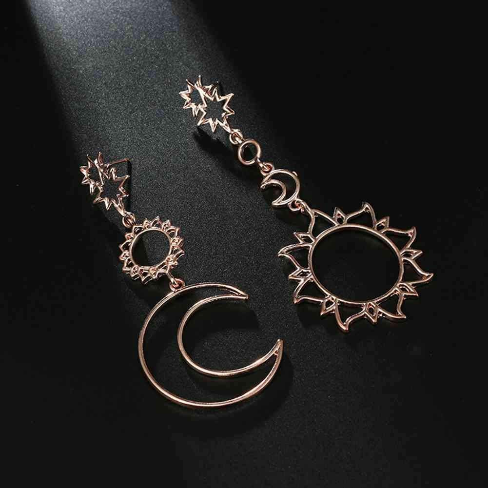 iNoDoZ Fashion Teardrop Women Bohemia Star Sun Moon Hollow Earrings Metal Alloy Vintage Geometry Accessories
