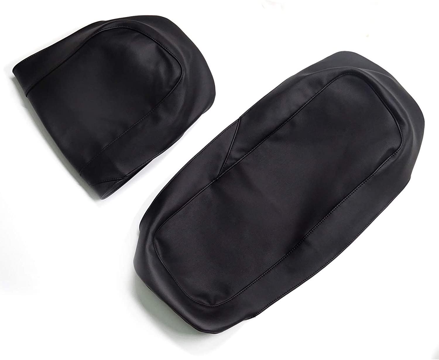 XJMOTO Saddlebag Speaker Lid Protect Cover PU Leather Waterproof for 1993-2013 Harley Touring Models Electra Glides Road Glides Road Kings Street Glides