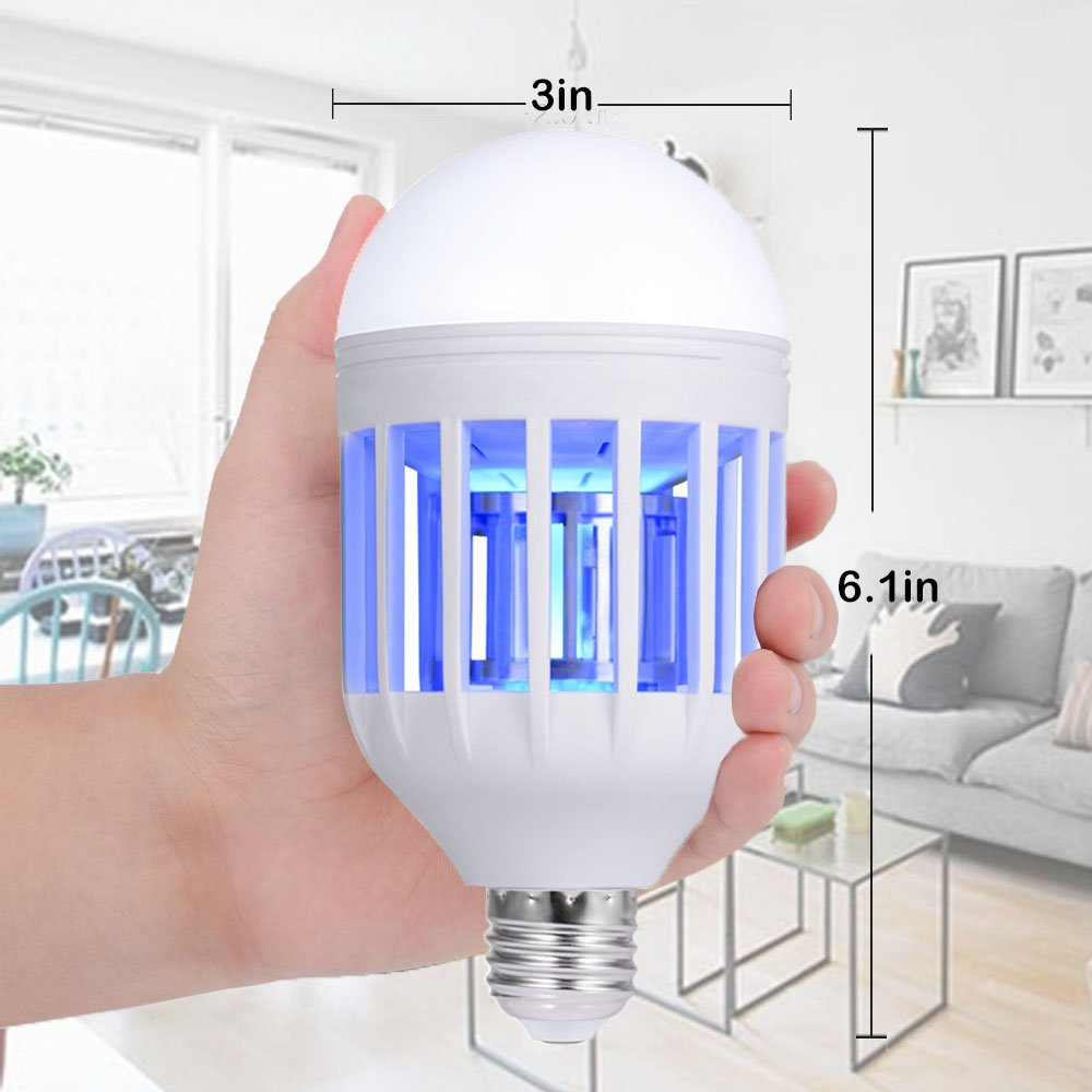Nonpest Bug Zapper 2 In 1 Mosquito Lamp Electronic The Switch Is Closed And Light Bulb Lights Up What Causes Fly Killer Built Insect Trap Fits 110v E26 E27 Socket Suit For Indoor