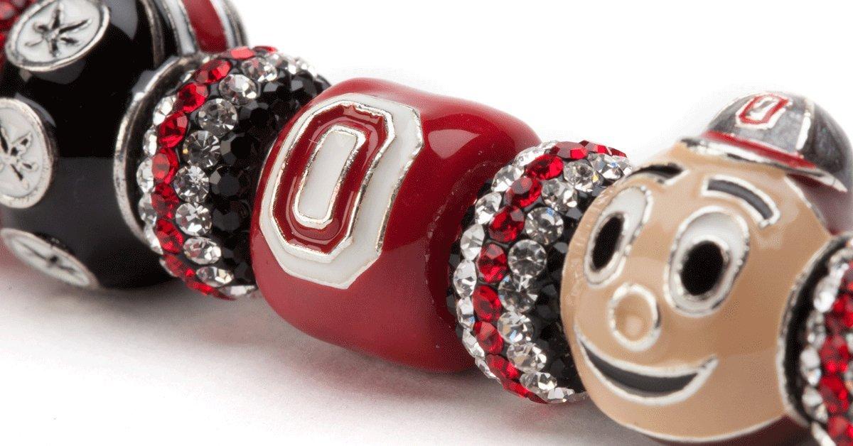 Ohio State Forever Buckeye Bracelet   Ohio State Charm Bracelet   Ohio State Bracelet   Ohio State Jewelry  OSU Gifts