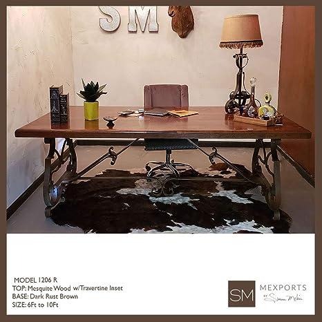 Superb Amazon Com Upscale Desk Made Of Wrought Iron Base With Inzonedesignstudio Interior Chair Design Inzonedesignstudiocom