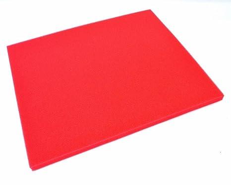ARTEIN - 48180 : Pliego De Espuma Roja Para Filtro De Aire (280X330X10Mm) Af00000000040
