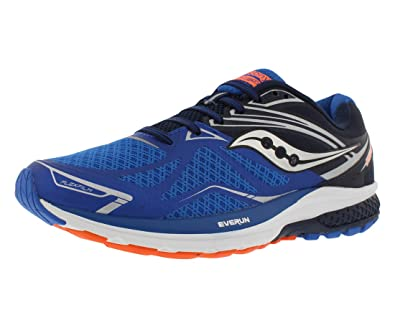 Saucony Ride 9, Zapatillas de Running para Hombre, Azul (Grey/Blue/Orange), 42.5 EU: Amazon.es: Zapatos y complementos