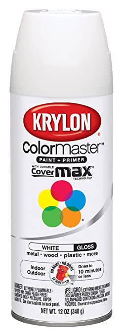 Krylon Interior/Exterior Enamel Spray Paint 12 Oz Gloss White Part 44