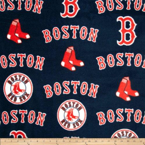 - Fabric Traditions MLB Fleece Boston Sox Toss White/Red Yard