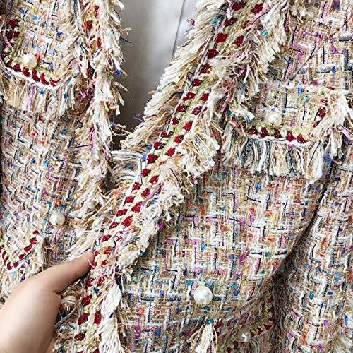 Spliced Negro Abrigos Básicos Mujer De Chaquetas Chaqueta twill Dgfhr Damas Otoño Tweed Para Mujeres 4SaRwRx0q
