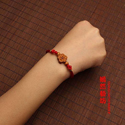 Natal ward off evil multicolored rope prosperous Year marriage cause mahogany red plum red string bracelet anklet men women hand rope