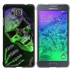 For Samsung GALAXY ALPHA G850 Case , Scary Green Skull Vampire - Diseño Patrón Teléfono Caso Cubierta Case Bumper Duro Protección Case Cover Funda