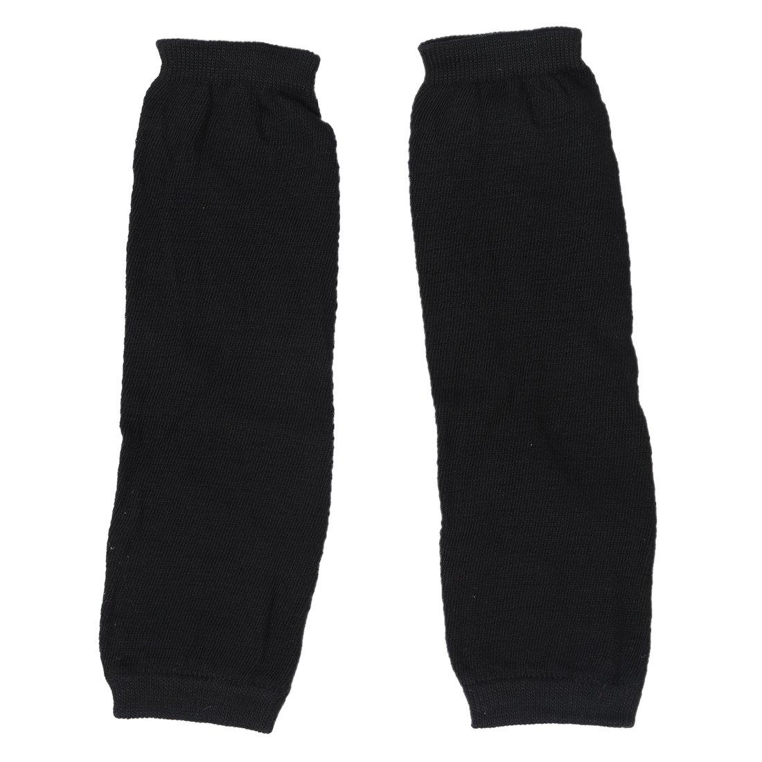 SODIAL (R) Guanti Lunghi Manicotti a maglia senza dita elastico da donna nero SODIAL(R) 009090