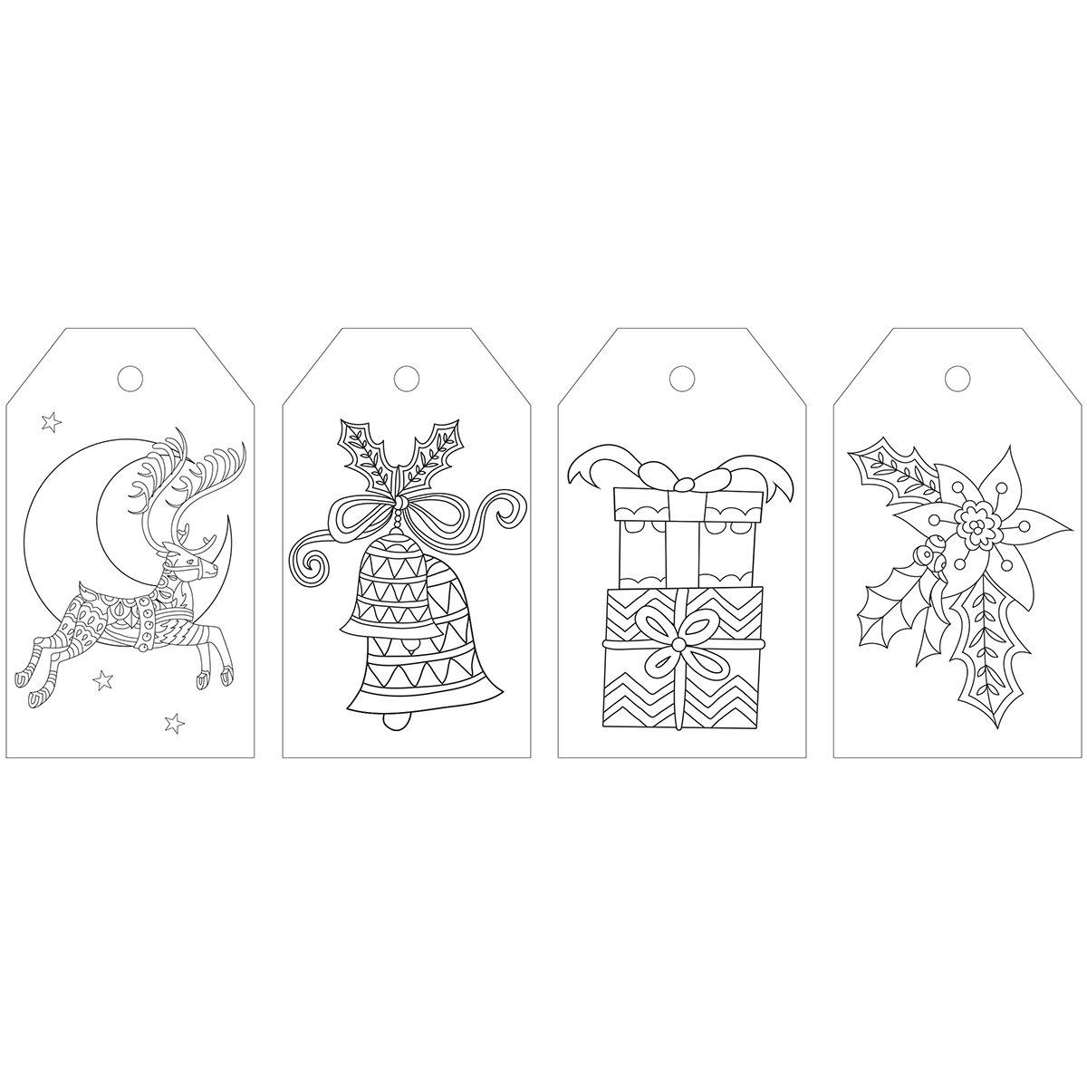 Kaisercraft Christmas Cheer KaiserColour Coloring Tag (24/Pack) CL403