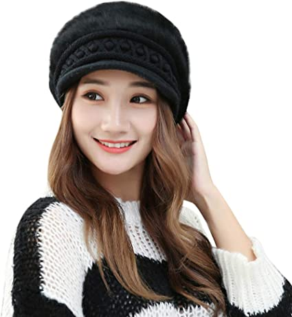 Women Men Unisex Knitted Slouch Ski Hats Chrome Skull Winter Fashion Snowboardin