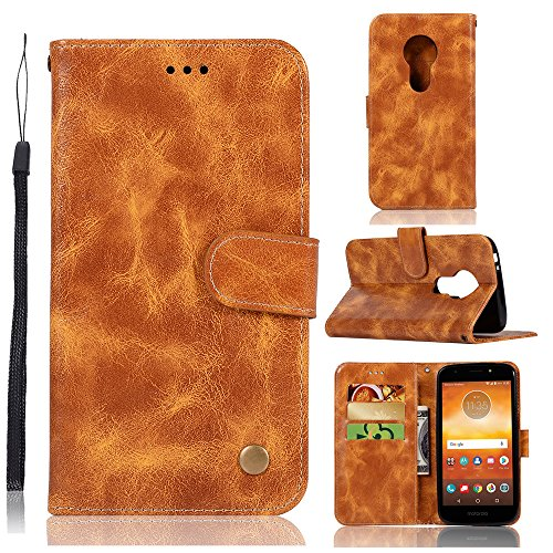 (Motorola Moto E5 Play Card Holder Case, Motorola Moto E5 Play Wallet Case Slim, Motorola Moto E5 Play Folio Leather case cover Shockproof Case with Credit Card Slot, Durable Protective)