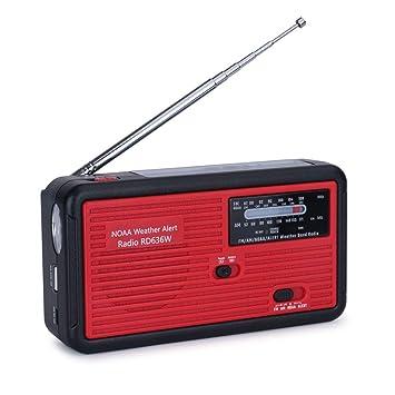 Amazon.com: Tiemahun NOAA - Radio solar de emergencia con ...