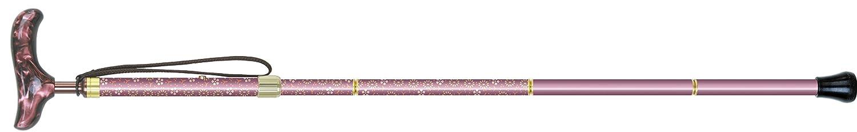 シナノ カイノスT-1 花 KOMON (パープル) 全長75-85cm(ピッチ2cmラチェット調節式) 約300g 布製ストラップ 専用ポーチ付 折り畳み杖 日本製 B016I7RQN2 パープル パープル