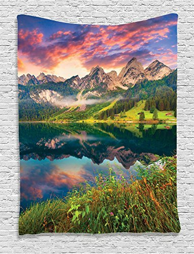 ZBLX Tapestry, Austrian Alp Mountains, Bedroom Living Room Dorm Wall Hanging Tapestry (59.1