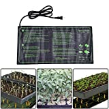 Aolvo Seedling Heating Mat, IP67 Waterproof 20'' X 10'' Germination Station/Hydroponic Heating Pad/Reptile Heating Mat/Beer Brewing Heat Mat/Fermentation, Seedlings & Plant Germination