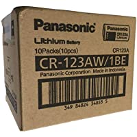 Panasonic Battery For Cameras 1-1.5 Ampere - CR123 - Box of 10 Batteries