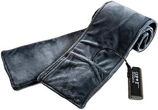 Biback réchargeable écharpe chauffante en Fibre de Carbone Mobile Power Electric Chauffage écharpe Lithium Batterie de Chauffage écharpe châle pour Le Ski d'équitation en Plein air