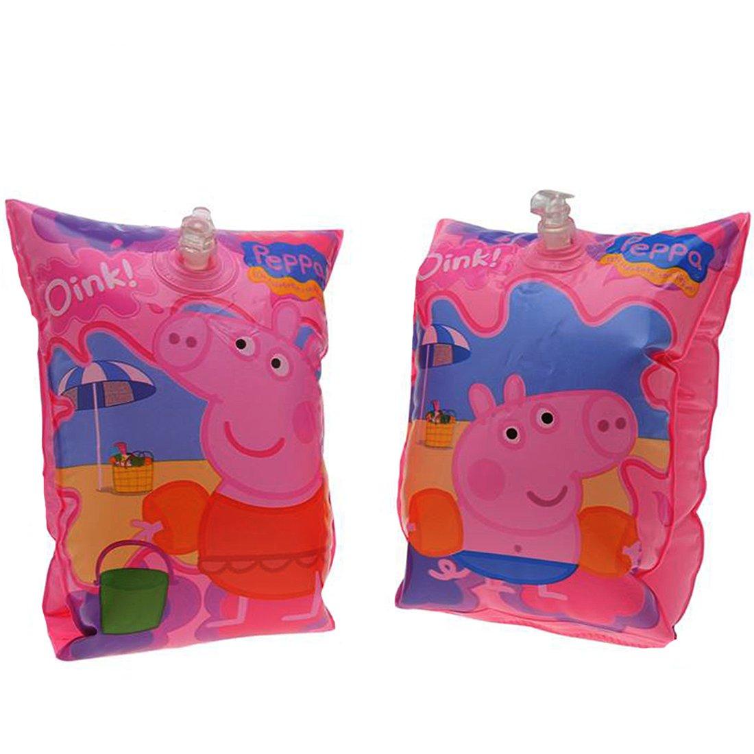 Peppa Pig inflable brazaletes alta calidad cumple estándares británicos infantil niños Bebés Niños Niñas natación flotadores de ayuda: Amazon.es: Deportes y ...