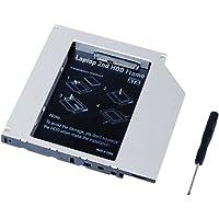 Qumox Laptop 2nd HDD SSD DVD Bay Caddy Adapter for 2.5''/12.7mm Universal CD/DVD-ROM SATA TO SATA Hard Drive External Enclosure