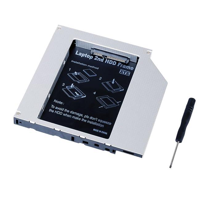 QUMOX Adaptador de 2do HDD SSD SATA para Disco Duro de Laptops Optical Bay 9.5mm: Amazon.es: Electrónica