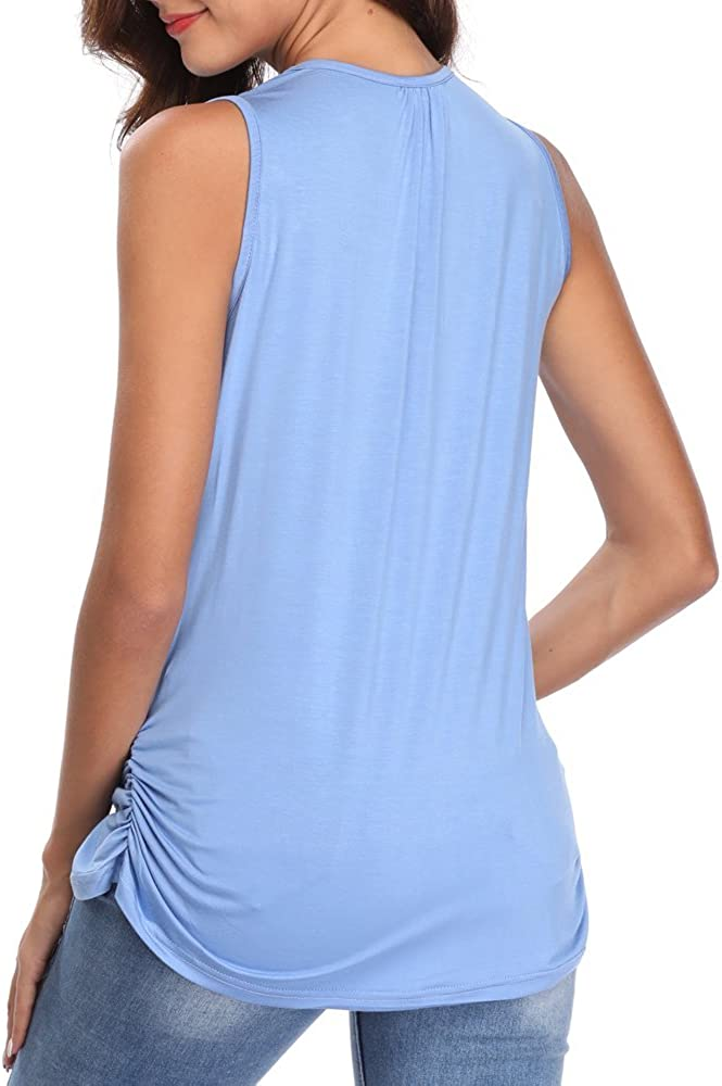 Derssity Womens Nursing Tank Top Sleeveless Comfy Breastfeeding Maternity Clothing