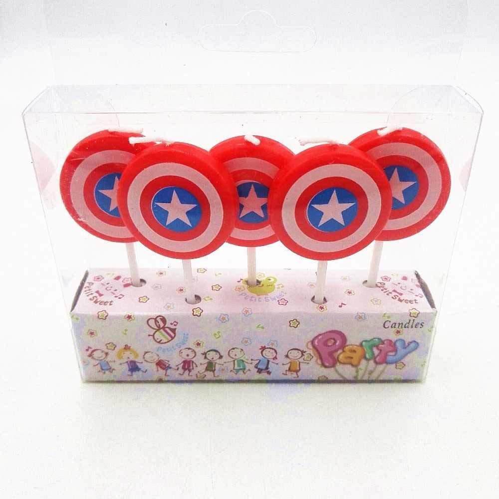 AEX 5pcs Capitán América Mini Figura Pastel de Cumpleaños ...