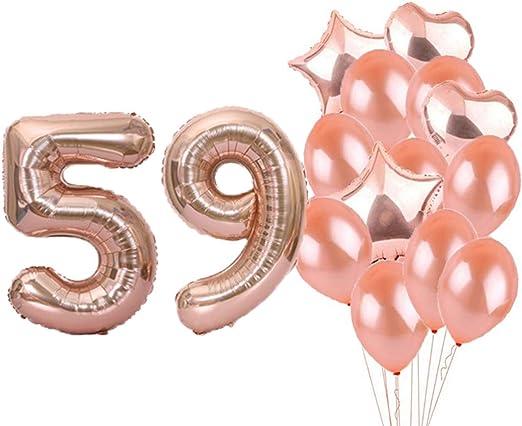 Amazon.com: Decoración de cumpleaños número 59, globos de ...