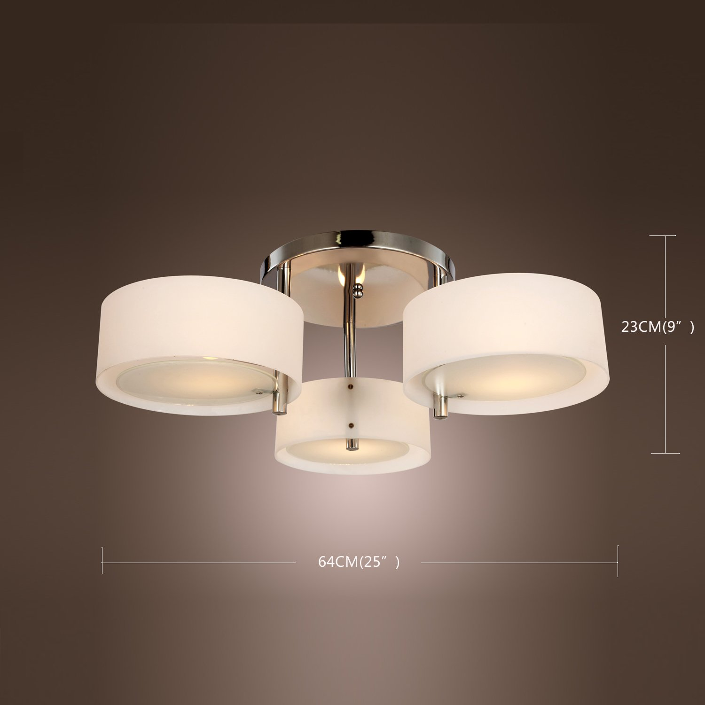 Lightinthebox acrylic chandelier with 3 lights chrome finish