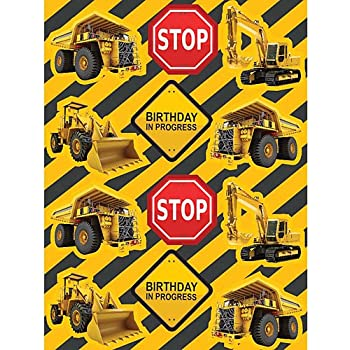 Construction Zone Sticker Party Favors 4 Sheets