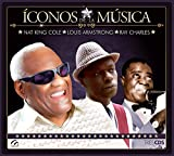 Iconos De La Musica Nat King Cole - Louis Armstrong - Ray Charles